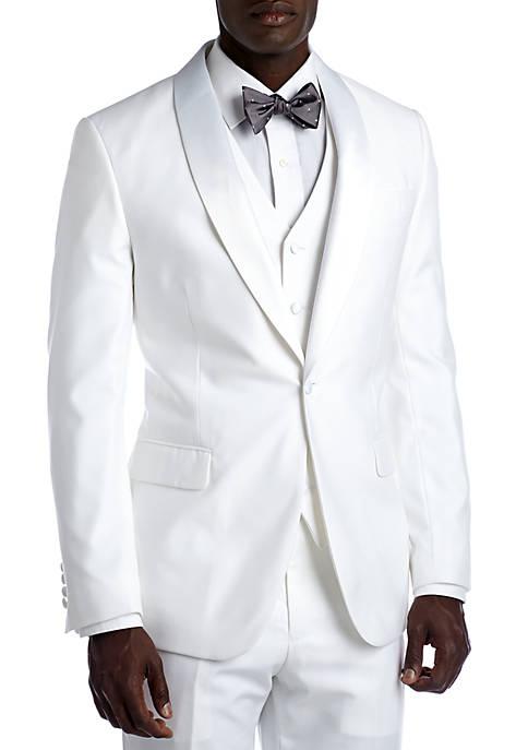 Slim White Suit Separate Coat