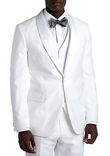 Savile Row Slim White Suit Separate Coat