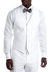 Savile Row Slim White Suit Separate Vest