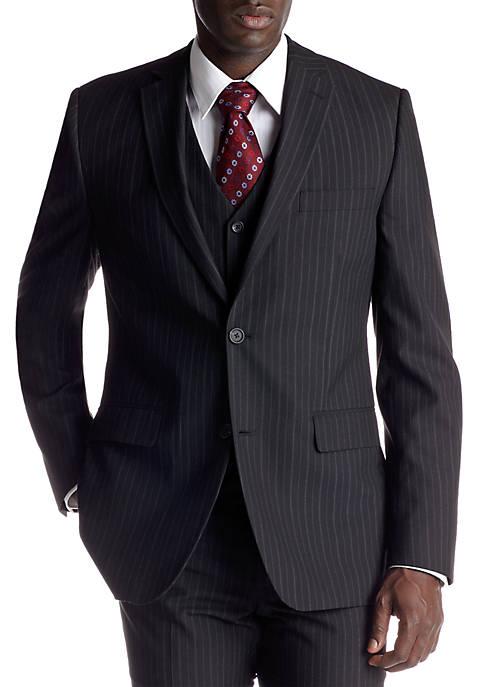 Classic Fit Black Stripe Suit Separate Coat
