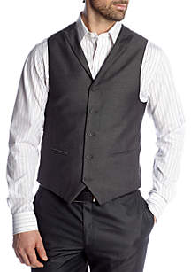 Classic Fit Gray Sharkskin Suit Separate Vest