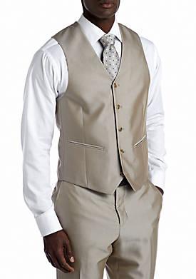 Slim Tan Suit Separate Vest