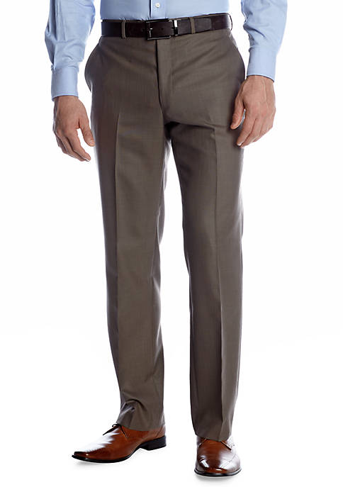 Classic Fit Brown Sharkskin Suit Separate Pants