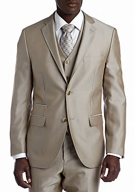Slim Tan Suit Separate Coat
