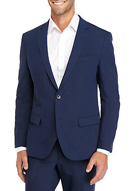 Blue Bi Stretch Slim Fit Suit Separate Coat