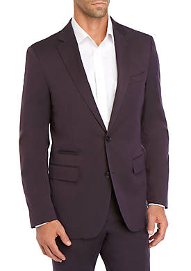 Aubergine Stretch Modern Fit Suit Separate Coat