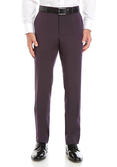 Savile Row Aubergine Stretch Modern Fit Suit Separate