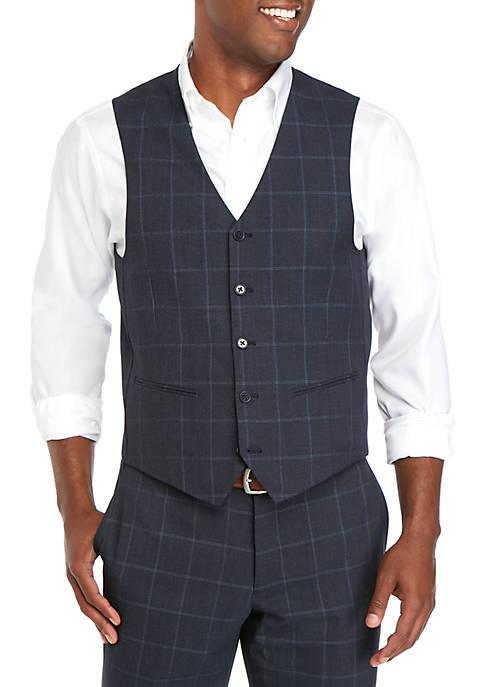 Savile Row Blue Windowpane Modern Fit Suit Separate