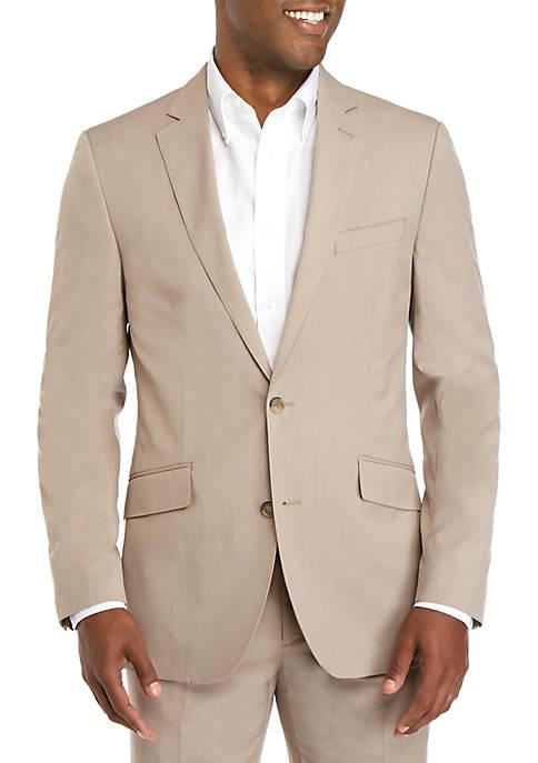 Savile Row Tan Micro Stripe Modern Fit Suit