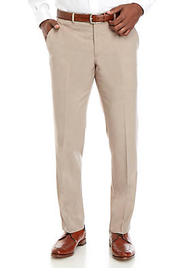 Stretch Tan Micro Stripe Modern Fit Suit Separate Pants