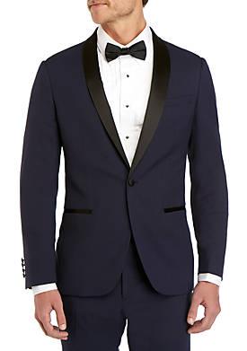 Royal Violet Stretch Slim Fit Tuxedo Jacket