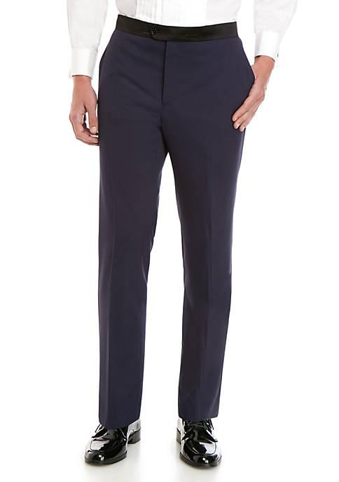 Royal Violet Stretch Slim Fit Tuxedo Pants