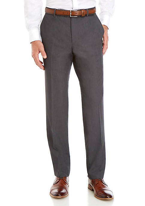 Savile Row Mens Stretch Classic Fit Trousers