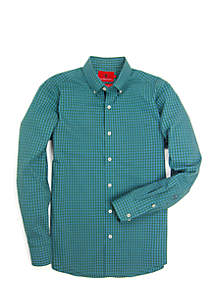 Henning Perforated Button-Down Shirt