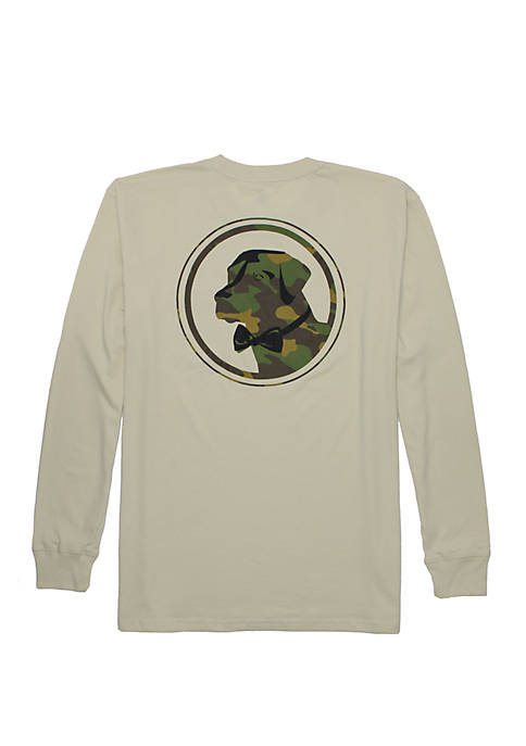 Southern Proper Mens Camouflage Lab Long Sleeve T-Shirt
