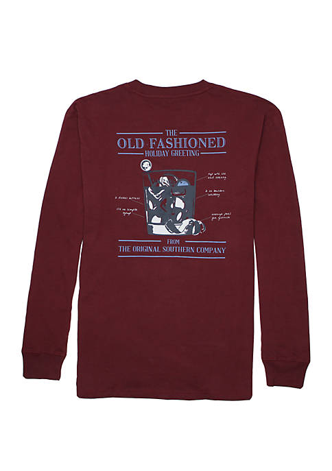 Old Fashioned Greeting Long Sleeve Graphic T-Shirt