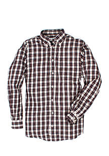 Long Sleeve Goal Line Plaid Shirt