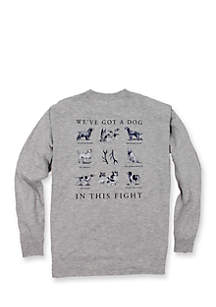 Long Sleeve Dog in This Fight Tee Shirt