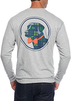 Southern Proper Long Sleeve Tartan Lab Graphic Tee