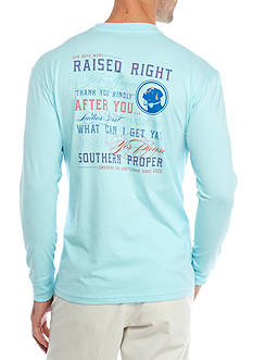 Southern Proper Long Sleeve Raised Right Graphic Tee