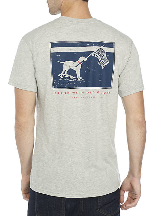 Southern Proper Short Sleeve Labs and Flags Tee