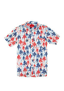 Southern Proper Short Sleeve Palm Tree Print Shirt