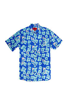 Southern Proper Short Sleeve Palm Tree Print Shirt