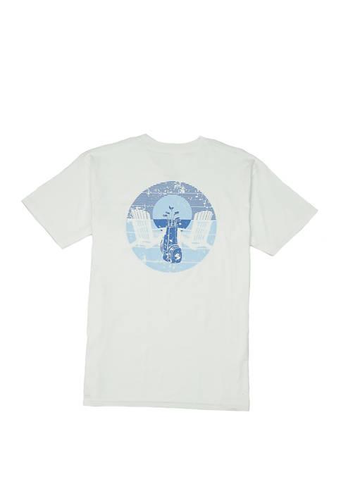 Mens Porch Swinging Short Sleeve Graphic T-Shirt