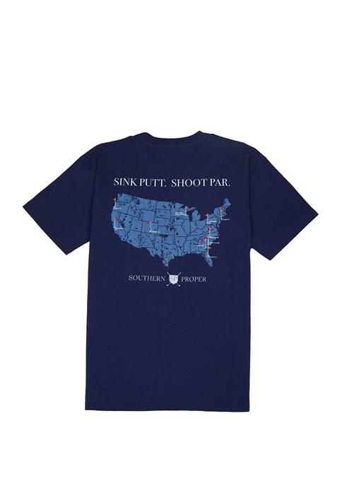 Mens Sink Putt Shoot Par Short Sleeve Graphic T-Shirt