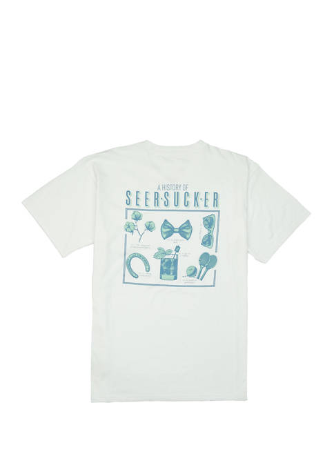 Mens History of Seersucker Short Sleeve Graphic T-Shirt