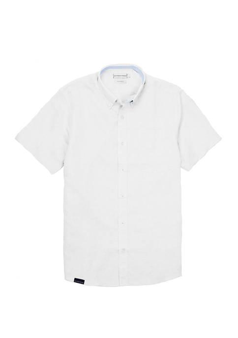 Mens Henning Short Sleeve Button Down Shirt