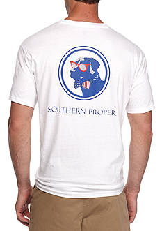 Southern Proper Short Sleeve Old Glory Lab Graphic Tee