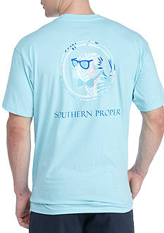Southern Proper Short Sleeve Palm Lab Graphic Tee