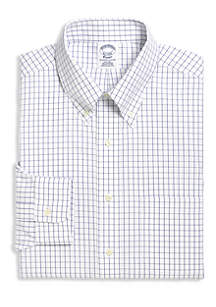Blue Label Slim Fit Non-Iron Windowpane Dress Shirt