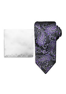 Paisley Tie and Pocket Square Set