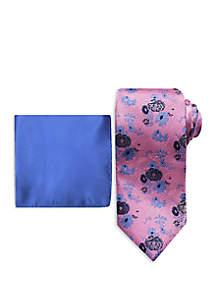 Steve Harvey® Fancy Floral Tie and Pocket Square Set