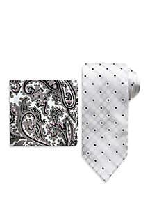 Steve Harvey® Dot on Dot Tie and Pocket Square Set