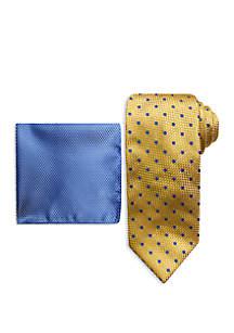 Steve Harvey® Nate Dot Tie and Pocket Square Set