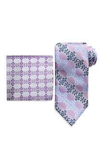 Steve Harvey® Scroll Tie And Pocket Square Set