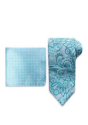 a327f42a552f5 Steve Harvey® Paisley Tie And Pocket Square Set ...