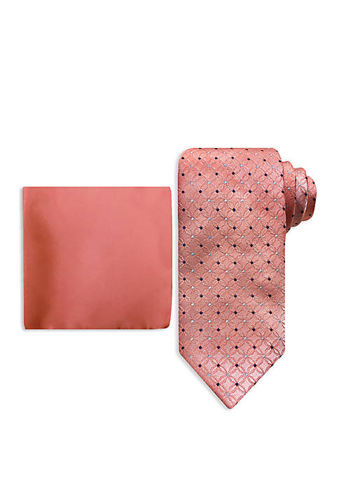 Pinwheel Tie And Pocket Square Set