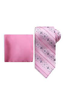 Steve Harvey® Medallion Tie And Pocket Square Set