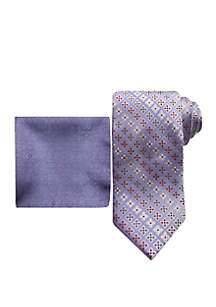 Steve Harvey® Necktie and Pocket Square Set