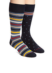 Primary Stripe Crew Socks - 2 Pack