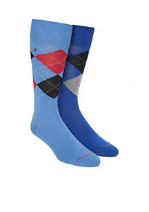 Argyle Crew Socks Set