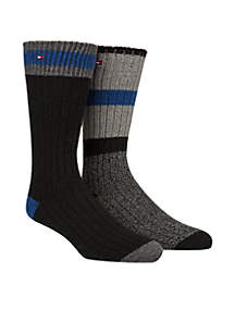 2 Pair Cabin Sock Crew