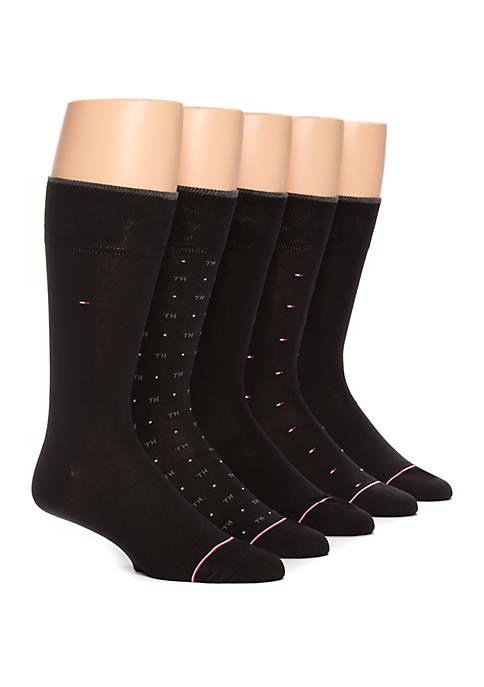 5 Pack Allover Flag Sock Set