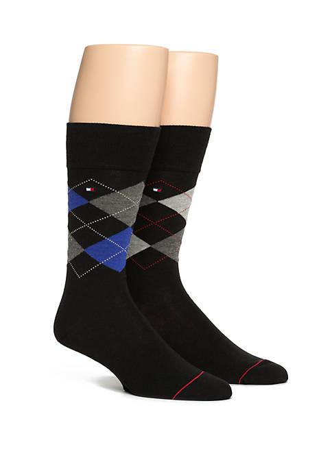 Argyle Crew Socks Set