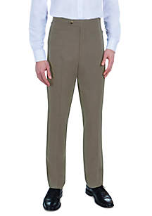 Sansabelt® Bing Bengaline Pants with Flat Front and Top Pockets