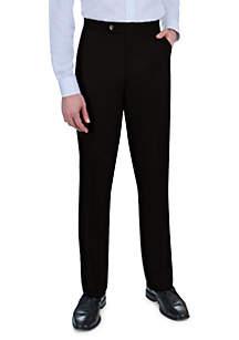 Sansabelt® Grant Sharkskin with Flat Front and Side Pockets